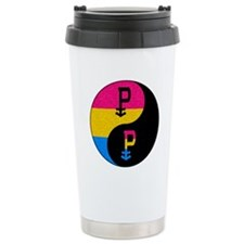 Pansexual Yin and Yang Stainless Steel Travel Mug