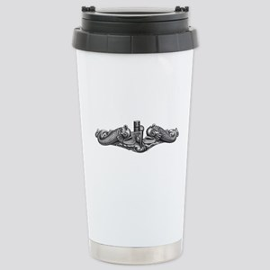 Submarine Dolphins Stainless Steel Travel Mug