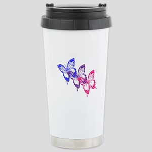 Bisexual Butterfly Stainless Steel Travel Mug