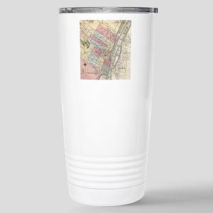 Vintage Map of Albany N Stainless Steel Travel Mug