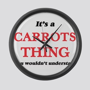 It's a Carrots thing, you wou Large Wall Clock