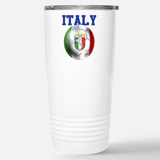 Italy Soccer Ball Stainless Steel Travel Mug