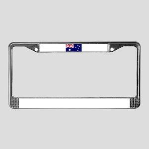 Australian flag design License Plate Frame