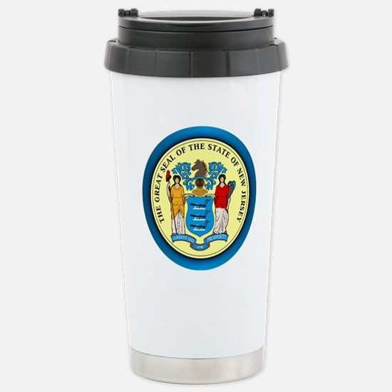 New Jersey Seal Stainless Steel Travel Mug