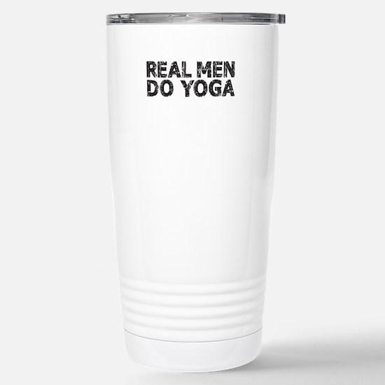 REAL MEN DO YOGA Stainless Steel Travel Mug