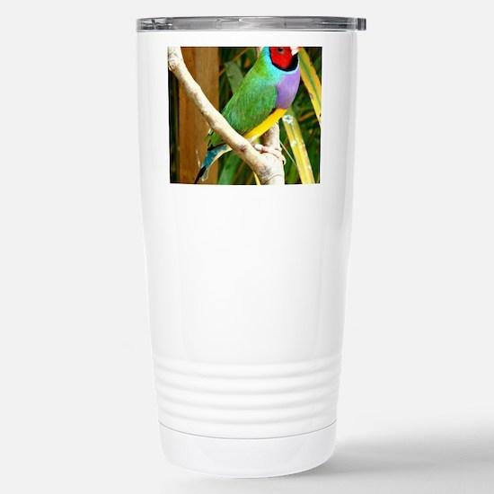 Gouldian Finch Stainless Steel Travel Mug