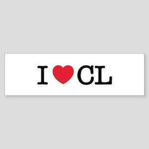 I Love CL Bumper Sticker