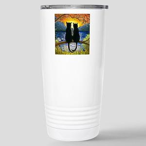 Cat 582 black cats Stainless Steel Travel Mug