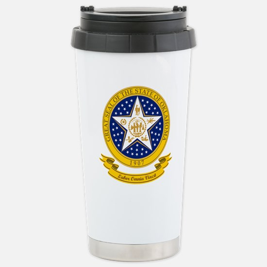 Oklahoma Seal Stainless Steel Travel Mug