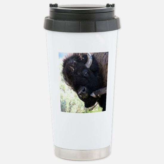 Wild Buffalo at Yellows Stainless Steel Travel Mug