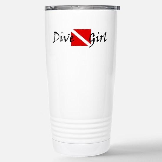 dive girl logo 1 black.psd Stainless Steel Travel