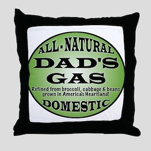 Dad's Gas Throw Pillow