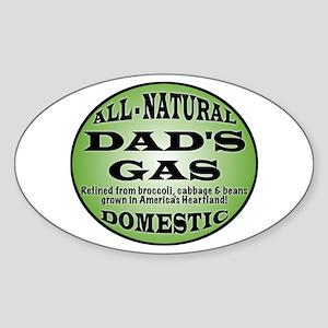 Dad's Gas Oval Sticker