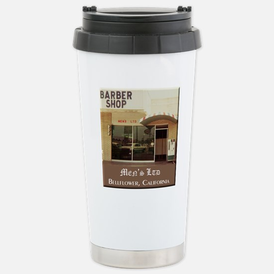 Men's Ltd Barber Shop Stainless Steel Travel Mug