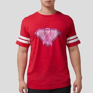 Superhero Shield Pink Ribbon T-Shirt