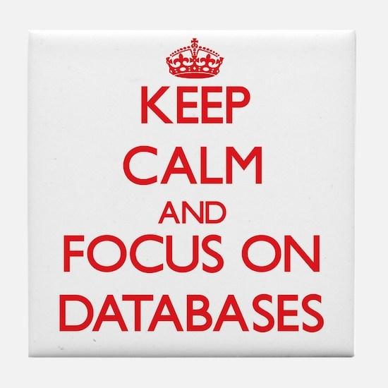 Cute Database Tile Coaster