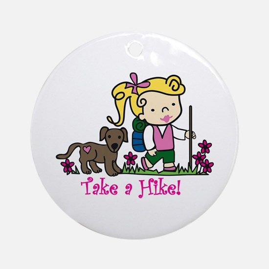 Take a Hike Ornament (Round)