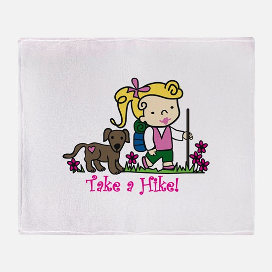 Take a Hike Throw Blanket