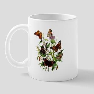 BUTTERFLIES & PURPLE THISTLE Mug