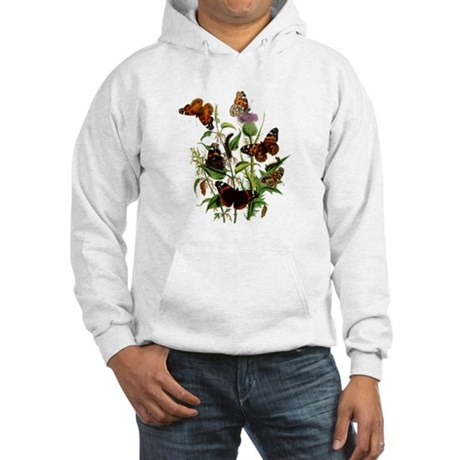 BUTTERFLIES & PURPLE THISTLE Hooded Sweatshirt