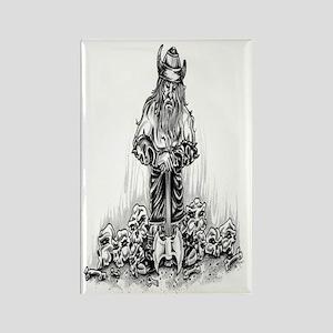 Viking Warrior Journal Rectangle Magnet