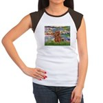 Lilies and Ruby Cavalier Women's Cap Sleeve T-Shir