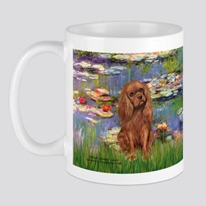 Lilies and Ruby Cavalier Mug