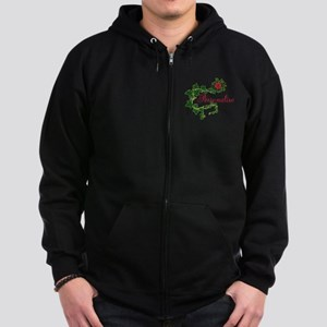 Personalizable. Ivy Rose Zip Hoodie (dark)