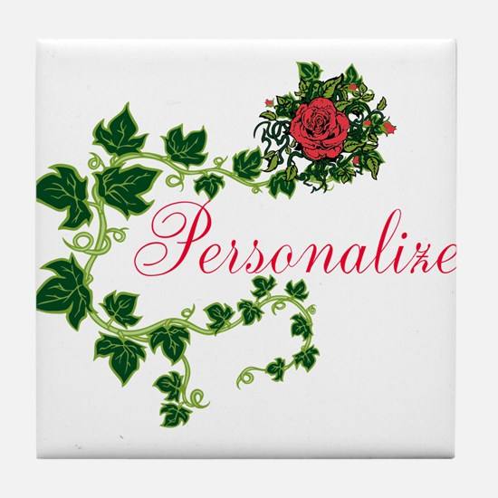 Personalizable. Ivy Rose Tile Coaster