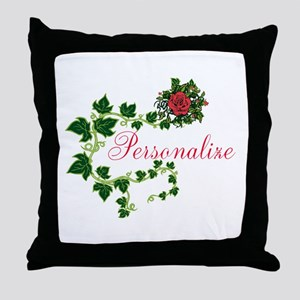Personalizable. Ivy Rose Throw Pillow