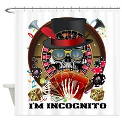 Vegas Incognito Shower Curtain