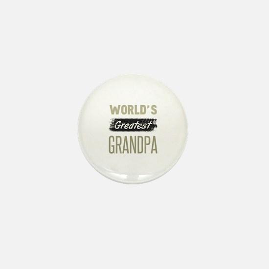 Cute Worlds best grandpa Mini Button
