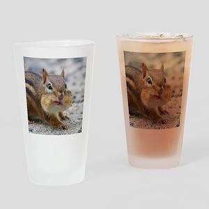 Funny Chipmunk Drinking Glass