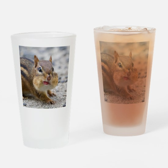 Funny Chipmunk Drinking Glass
