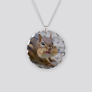 Funny Chipmunk Necklace Circle Charm