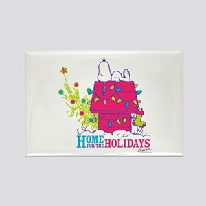 Snoopy: Home for the Holidays Rectangle Magnet