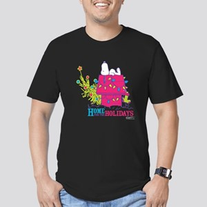 Snoopy: Home for the H Men's Fitted T-Shirt (dark)
