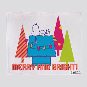 Snoopy: Merry and Bright Throw Blanket