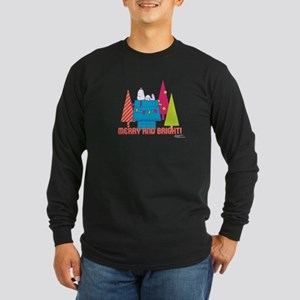 Snoopy: Merry and Bright Long Sleeve Dark T-Shirt