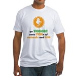 Go Veggie 2 Fitted T-Shirt