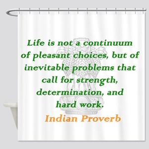 Life Is Not a Continuum Shower Curtain