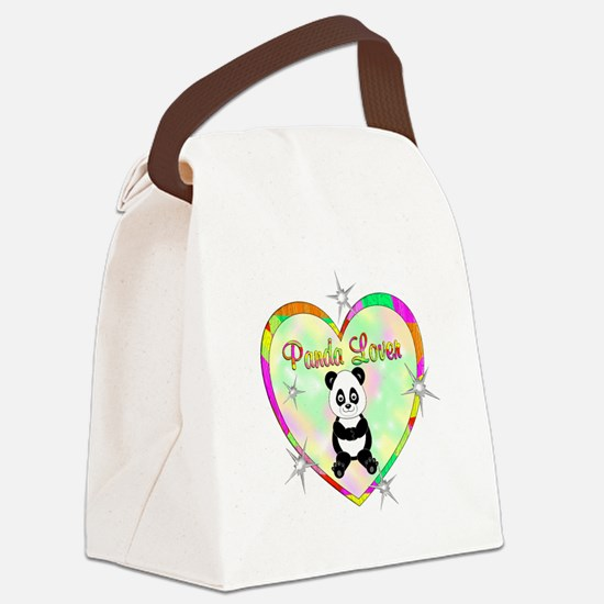 Panda Lover Canvas Lunch Bag