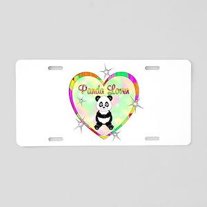 Panda Lover Aluminum License Plate