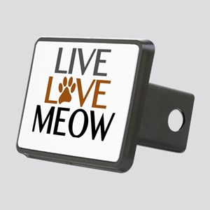 Live Love Meow Cat Lover Rectangular Hitch Cover