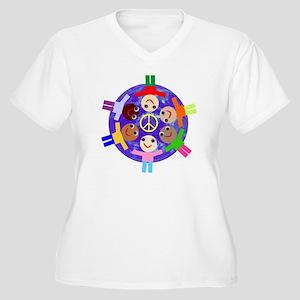 World Peace Women's Plus Size V-Neck T-Shirt