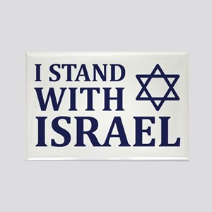 I Stand with Israel Rectangle Magnet