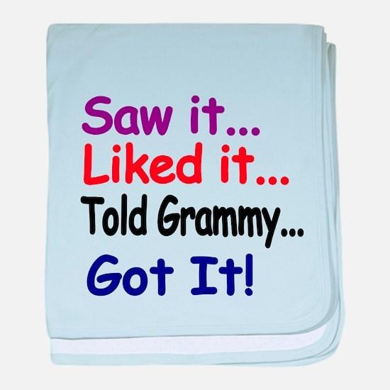 Saw it...Liked it...Told Grammy..Got it! baby blan