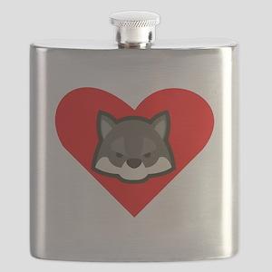 Wolf Heart Flask