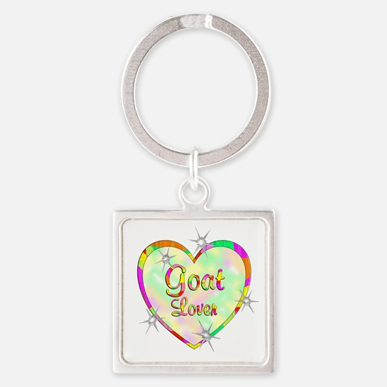 Goat Lover Square Keychain