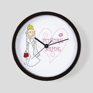 Blond Future Bride Wall Clock
